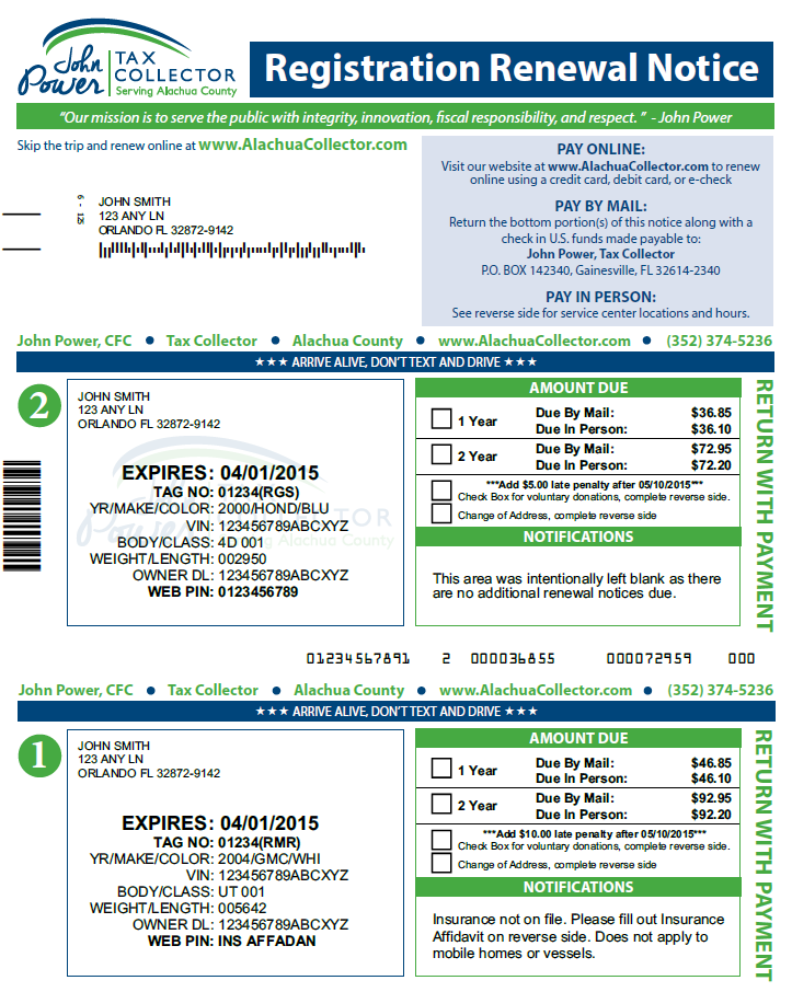 How to renew registration sticker kamos sticker for Florida motor vehicle license