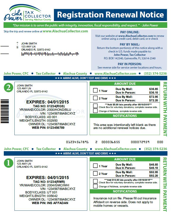 Florida Motor Vehicle Registration Renewal Caferacer