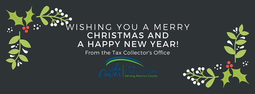 tax collectors office closed for christmas and new years holidays