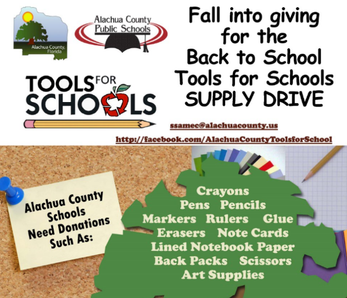 Tax collector s office collecting school supplies for for Fishing license for disabled person