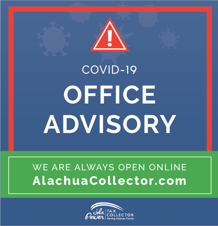 COVID-19 Office Advisory. We are always open online at AllachuaCollector.com